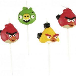 Κεράκια Angry Birds 4τεμ.