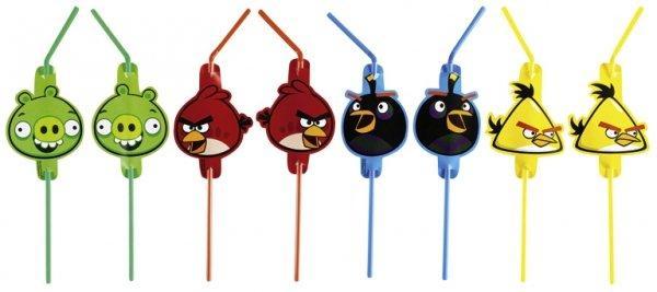 Καλαμάκια Angry Birds 8τεμ.
