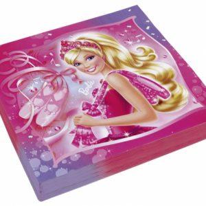 Χαρτοπετσέτες φαγητού Barbie Pink Shoes 20τεμ.