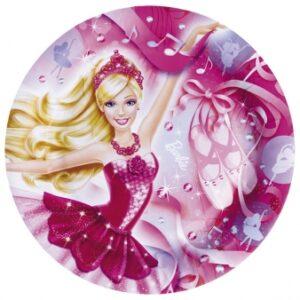 Πιάτα φαγητού 23εκ. Barbie Pink Shoes 8τεμ.