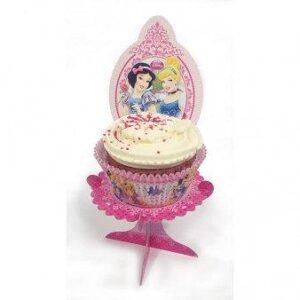 Ατομική χάρτινη βάση για κεκάκια Disney Princess Glamour 4τεμ.
