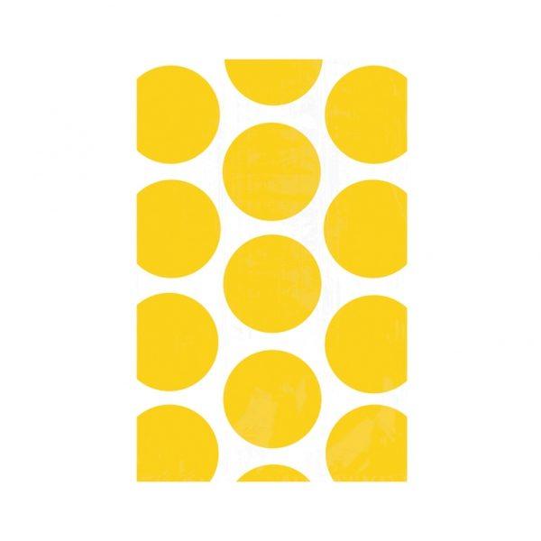 Σακούλες χάρτινες 17,7x10,9εκ. κίτρινο μεγάλο πουά 10τεμ.