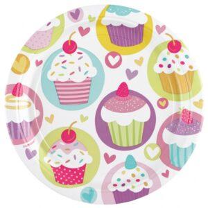 Πιάτα Φαγητού Cupcake 23cm 8τεμ.