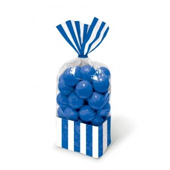 Σακούλες νάυλον 27,3x8,3εκ. μπλε σκούρο ριγέ 10τεμ.