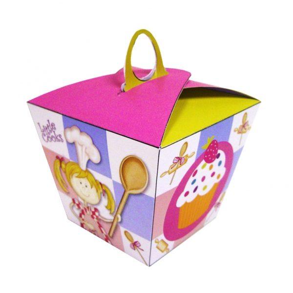 Χάρτινο κουτί για κεκάκια Little Cooks 6τεμ.
