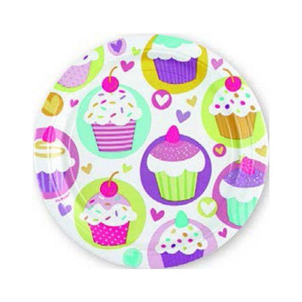 Πιάτα Γλυκού Cupcake 18cm 8τεμ.