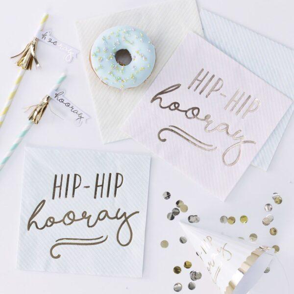 """Χαρτοπετσέτες """"Hip-Hop Hooray"""" σε 3 Παστέλ Χρώματα 16τεμ."""