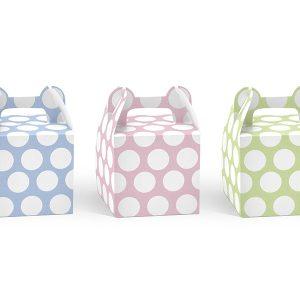 Τσάντες Δώρου Χάρτινες Πουά σε 3 χρώματα 6τεμ.