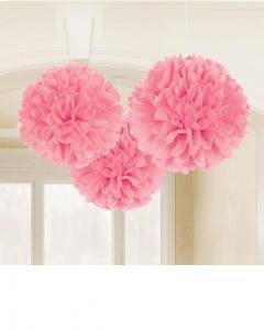 Fluffy Διακοσμητικό Παστέλ Ροζ 40.6cm 3τεμ..