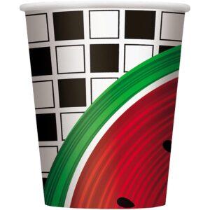 Ποτήρι χάρτινο 270ml watermelon checκ 8τεμ.