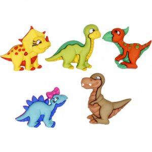 """Κουμπιά Διακοσμητικά """"Δεινοσαυράκια"""" 5τεμ."""