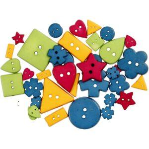 Κουμπιά Pastel colours 37 τεμ.