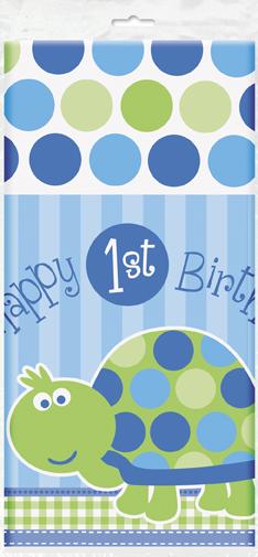 Τραπεζομάντηλο137x213εκ. 1st birthday turtle