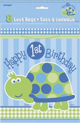 Τσάντες δώρων 1st birthday turtle 8τεμ.