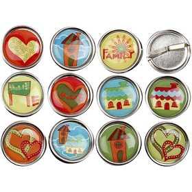 """Κουμπιά Διακοσμητικά """"Home & Love"""" 12τεμ."""