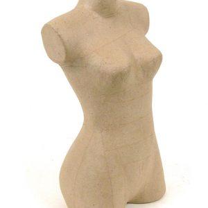 Γυναικείο σώμα papier mache 14x20x23εκ