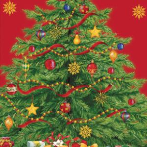 Χαρτοπετσέτες Μακρόστενες Starry Christmas Tree 33x40cm 16τεμ.
