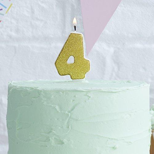 Κερί με χρυσό glitter Νο 4