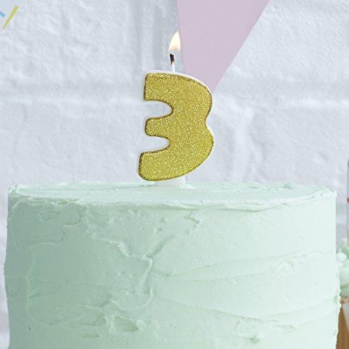 Κερί με χρυσό glitter Νο 3
