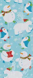 Σακούλες ζελατίνες 13εκ. x 28εκ. Πολικές Αρκούδες- Πιγκουίνοι 20τεμ.