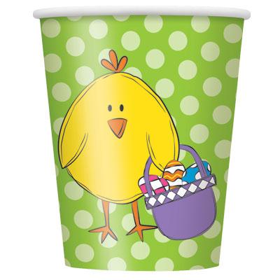 Ποτήρια χάρτινα 270ml Bright Easter 8τεμ.
