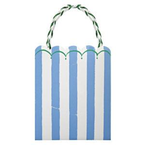 Toot Sweet Blue Stripe Χάρτινες Σακούλες Πάρτυ 8τεμ.