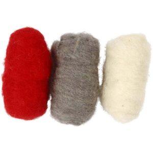 Μαλλί Ξασμένο σε τρία χρώματα 3Χ10γρ.