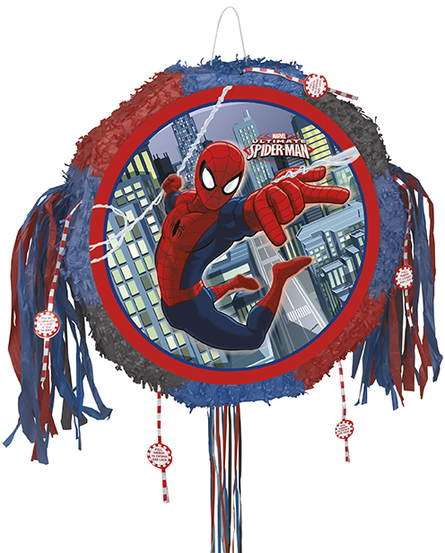 Πινιάτα Spiderman drum pop-out  47x8 εκ.