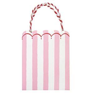 Toot Sweet Pink Stripe Χάρτινες Σακούλες Πάρτυ 8τεμ.
