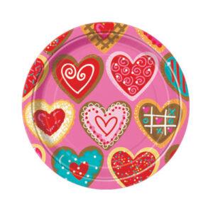 Πιάτα γλυκού 17,1εκ. Sweet Valentine 8τεμ.