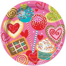 Πιάτα φαγητού 21,9εκ. Sweet Valentine 8τεμ.