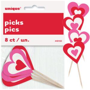 Οδοντογλυφίδες Valentines Hearts 8τεμ.