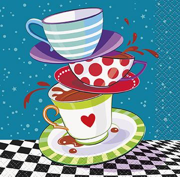 Χαρτοπετσέτες γλυκού 25,4x25,4 Mad Hatter Tea Party 16τεμ.