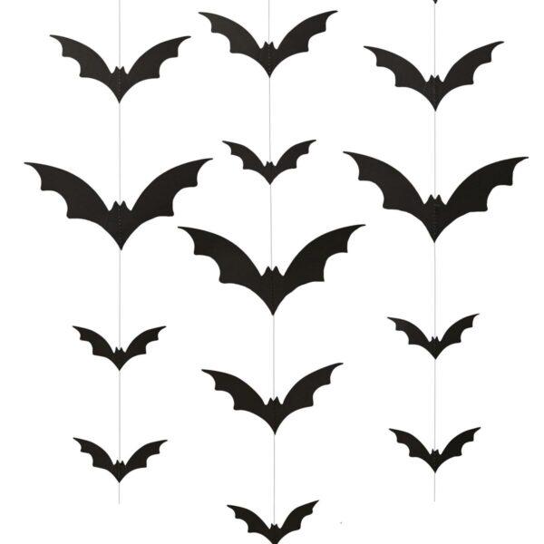 Γιρλάντα νυχτερίδες Trick or Treat 2μ. 6τεμ.(Halloween)