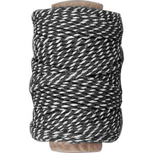 Κορδόνι Βαμβακερό Ριγέ Μαύρο-Λευκό 1τεμ.