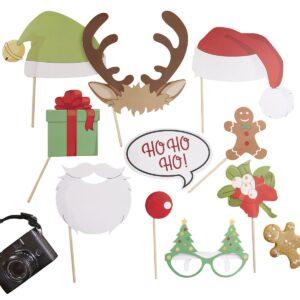 PhotoBooth με Χριστουγεννιάτικα props Santa & Friends