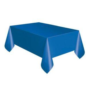 Τραπεζομάντηλο πλαστικό μπλε μονόχρωμο 1,37x2,74m