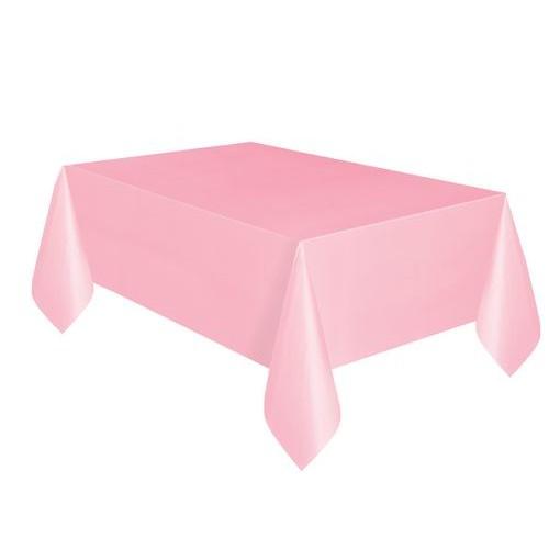 Τραπεζομάντηλο πλαστικό ροζ μονόχρωμο 1,37x2,74m