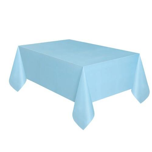 Τραπεζομάντηλο πλαστικό γαλάζιο μονόχρωμο 1,37x2,74m