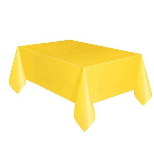 Τραπεζομάντηλο πλαστικό κίτρινο μονόχρωμο 1,37x2,74m