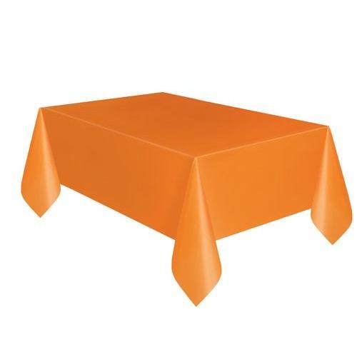Τραπεζομάντηλο πλαστικό πορτοκαλί μονόχρωμο 1,37x2,74m