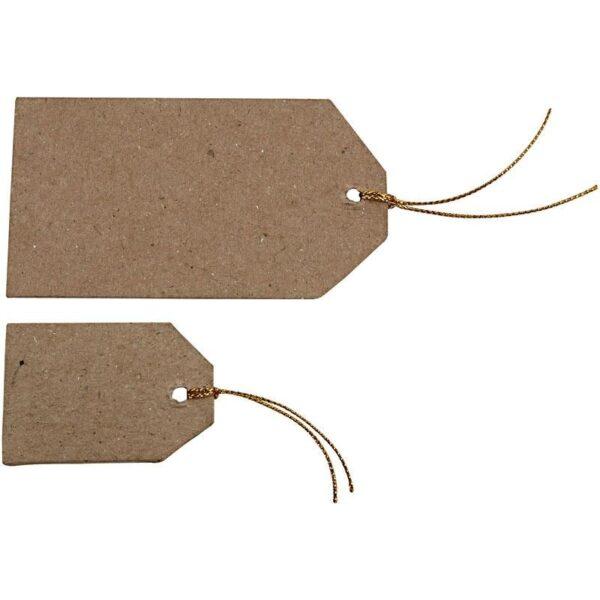 Ταμπελίτσες Δώρων Papier-Mache 40τεμ.