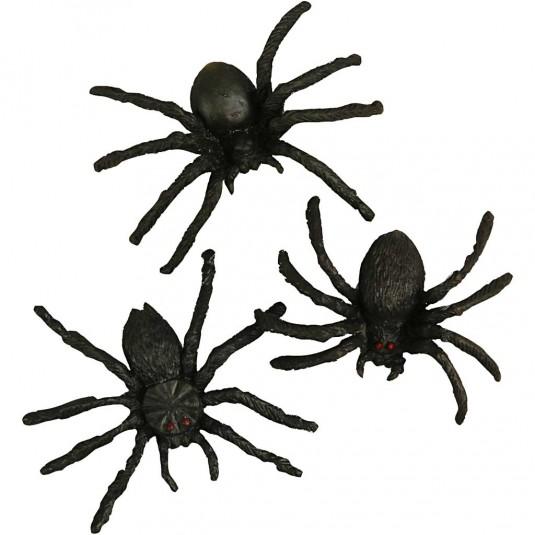 Αράχνες πλαστικές για διακόσμηση Halloween 10τεμ.