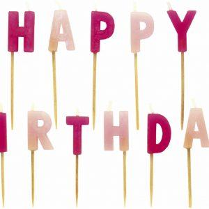 """Κεράκια σετ """"Happy Birthday"""" για κορίτσια"""