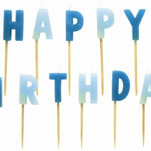 """Κεράκια σετ """"Happy Birthday"""" για αγόρια"""