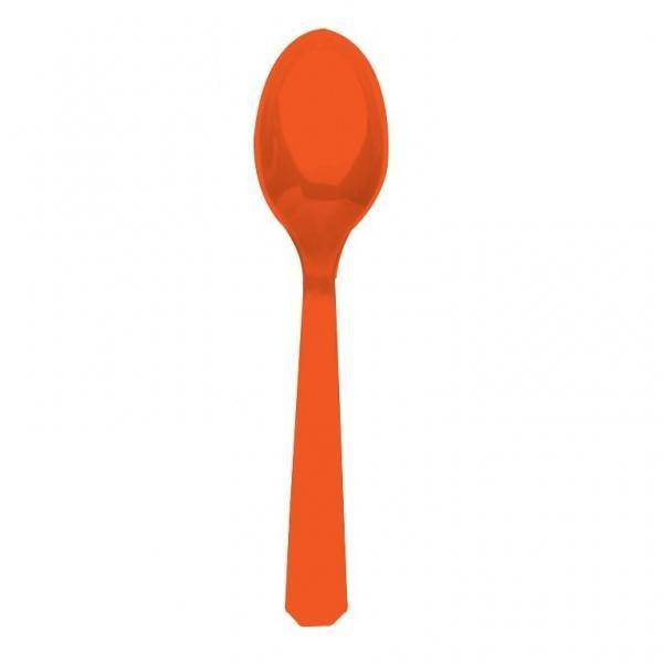 Κουτάλια Πλαστικά Πορτοκαλί 10τεμ.