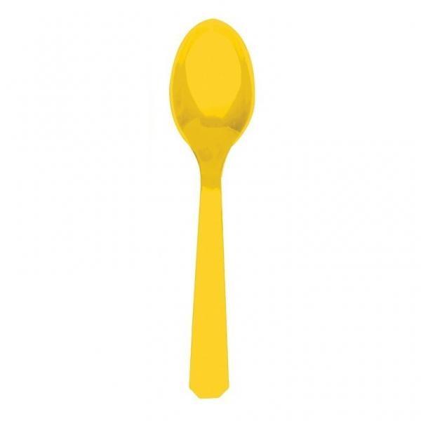 Κουτάλια Πλαστικά Κίτρινα 10τεμ.