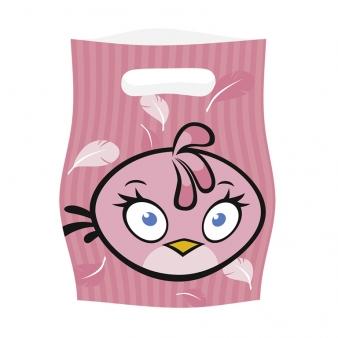 Τσάντες δώρων Angry Birds ροζ 6τεμ.