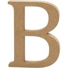 Ξύλινo γράμμα B Ύψος 13 cm Πάχος 2cm