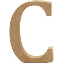 Ξύλινo γράμμα C Ύψος 13 cm Πάχος 2cm